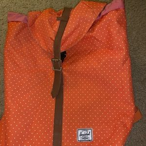 Herschel Drawstring Orange Backpack